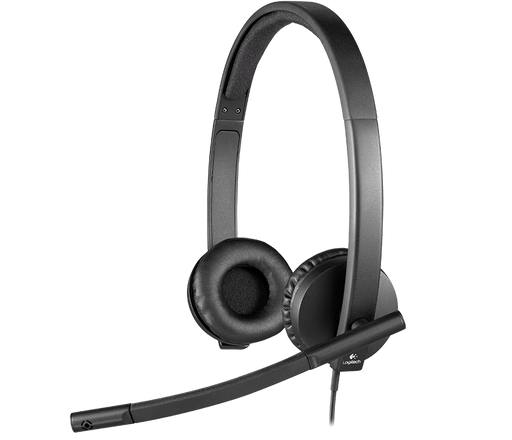 Logitech H570e Binaural Head-band Black headset (981-000574)