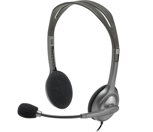Logitech H111 Binaural Head-band Grey Stereo headset (981-000612)