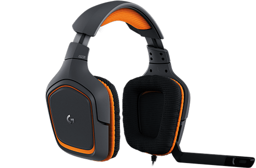 Logitech G231 PRODIGY Binaural Head-band Black,Orange headset (981-000625) - V&L Canada
