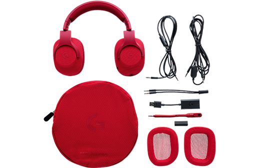 Logitech G433 Binaural Head-band Red headset (981-000650) - V&L Canada