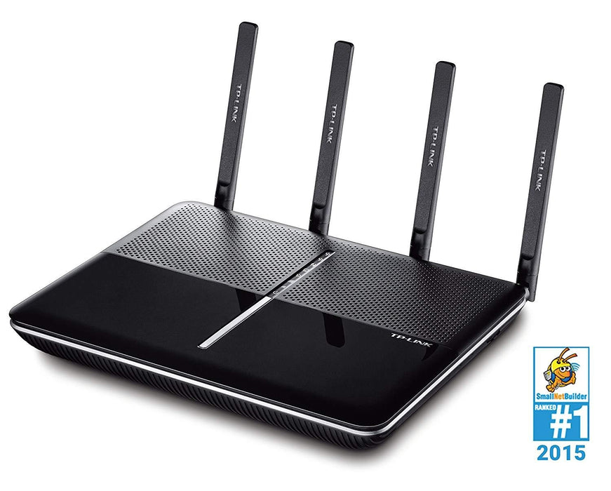 Recertified TP-Link AC2600 Dual Band Wireless AC Gigabit Router, 2.4GHz 800Mbps+5GHz 1733Mbps, Beamforming,2 USB 3.0 Ports, IPv6, Dual Core CPU, MIMO