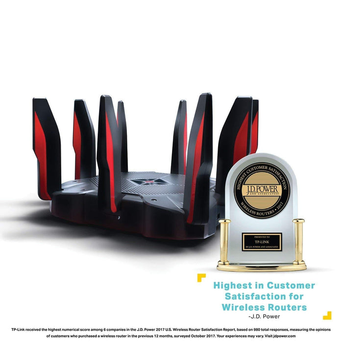 TP-LINK Archer C5400X wireless router Tri-band (2.4 GHz / 5 GHz / 5 GHz) Gigabit Ethernet Black,Red