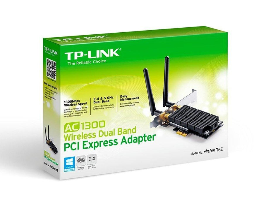 TP-Link Archer T6E AC1300 Dual Band Wireless PCI Express Adapter - V&L Canada