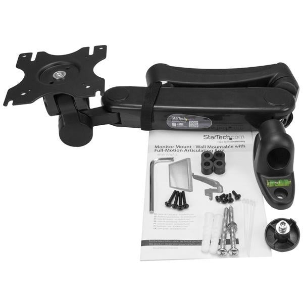StarTech.com Single-Monitor Arm - Wallmount - One-Touch Height Adjustment ARMPIVWALL - V&L Canada