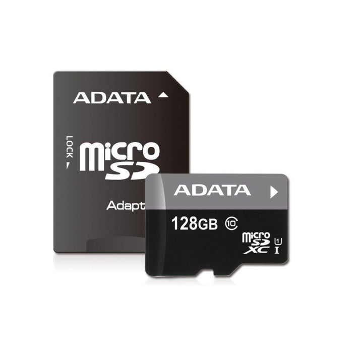 ADATA Premier 128GB microSDXC Class10 Memory Card with Adapter (AUSDX128GUICL10-RA1) - V&L Canada