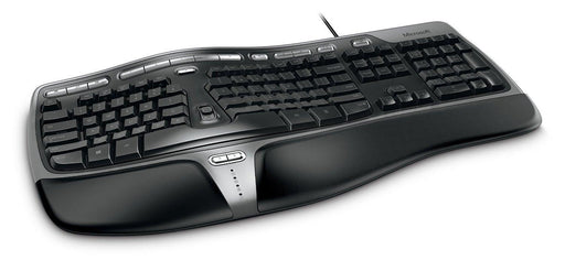 MICROSOFT  WIRED NATURAL ERGO KEYBOARD 4000 BLACK WIN32 FRENCH USB CANADA CD (B2M-00014) - V&L Canada