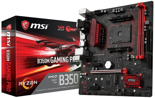 MSI B350M Gaming PRO AM4 AMD B350 SATA 6Gb/s USB 3.1 HDMI Micro ATX AMD Motherboard