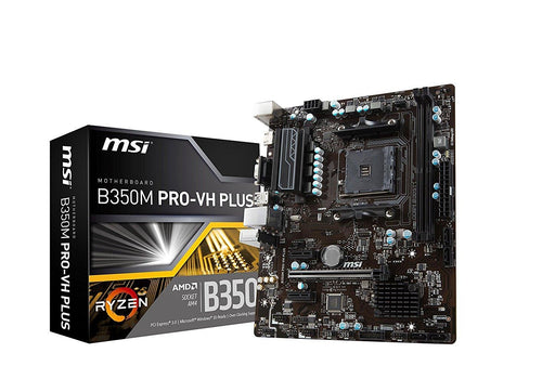 MSI B350M PRO-VH PLUS AMD B350 Socket AM4 microATX motherboard - V&L Canada