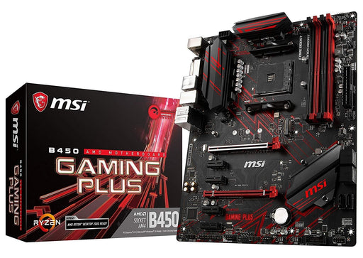 MSI Motherboard B450GPLUS B450 GAMING PLUS AMD RYZEN AM4 B450 64G DDR4 DVI/HDMI ATX Retail