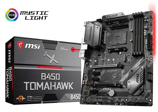 MSI Gaming B450 TOMAHAWK AM4 AMD B450 SATA 6Gb/s USB 3.1 HDMI ATX AMD Motherboard