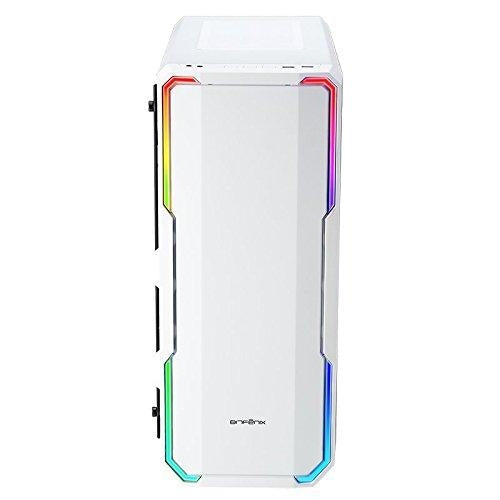 BitFenix Enso White RGB Tempered Glass Window E-ATX Mid Tower Case (Supports ASUS AURA SYNC) (BFC-ENS-150-WWWGK-RP)