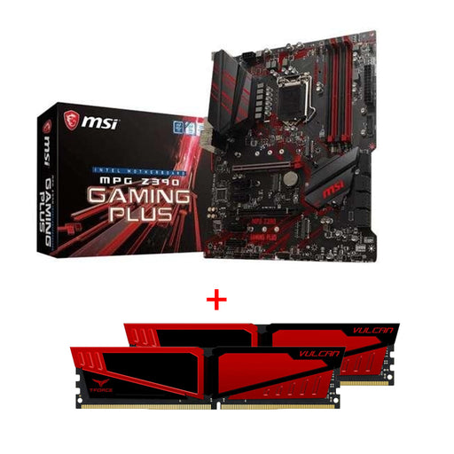 *Bundel Deal* MSI Motherboard Z390GAMINGP MPG Z390 GAMING PLUS LGA1151 Core 9000 64GB DDR4 +TEAMGROUP T-Force Vulcan DDR4 8GB (2x8GB) 2666MHz (PC4-21300)