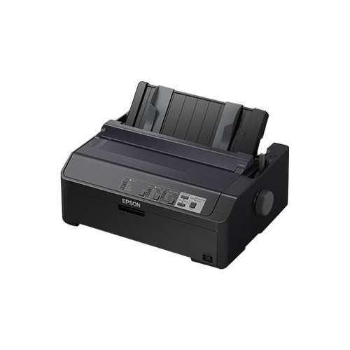 "Epson LQ-590II Serial Impact Dot Matrix - Monochrome, Up to 584cps/12cpi, USB 2.0, 25000hours MTBF, Up to 0.02"" Max Sheets in Multi-Part Form - C11CF39201"