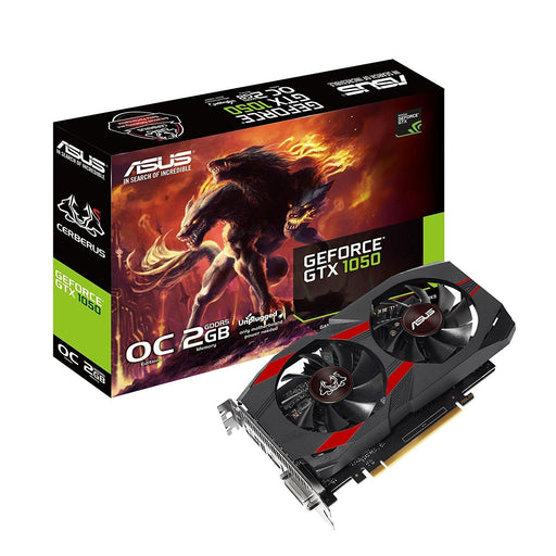 ASUS Video Card CERBERUS-GTX1050-O2G 2GB GDDR5 128Bit DVI/HDMI/DP PCI Express GTX 1050 OC Edition Retail - V&L Canada