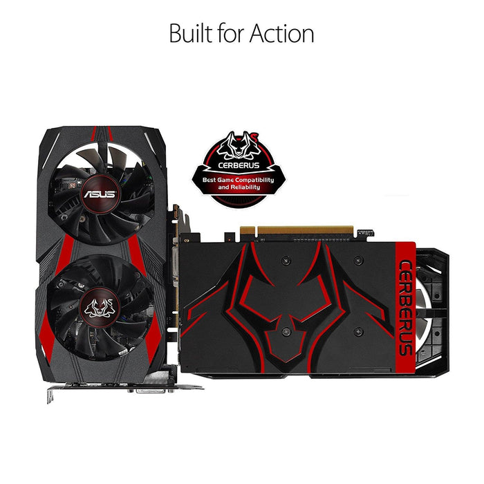 ASUS Cerberus GeForce® GTX 1050 Ti 4GB OC Edition GDDR5 Gaming Graphics Card (Cerberus-GTX1050Ti-O4G) - V&L Canada