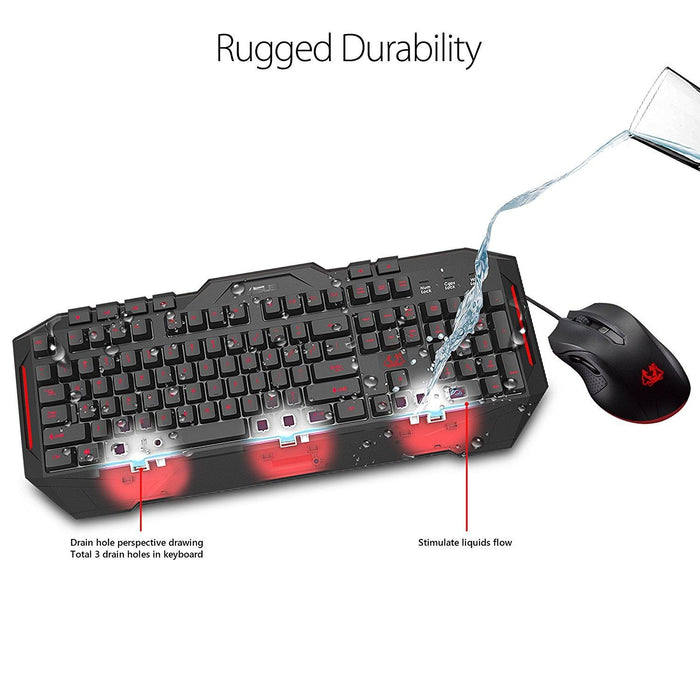 ASUS Cerberus Gaming Keyboard and Mouse Combo,USB,LED backlight:2 colors (Red / (CERBERUS COMBO) - V&L Canada