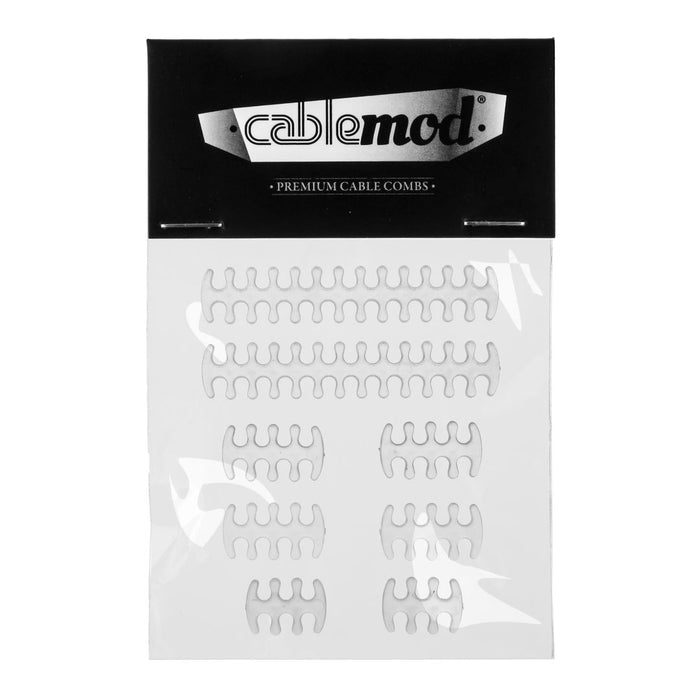 CableMod Basic Cable Comb Kit - E-SERIES Transparent - Retail - V&L Canada