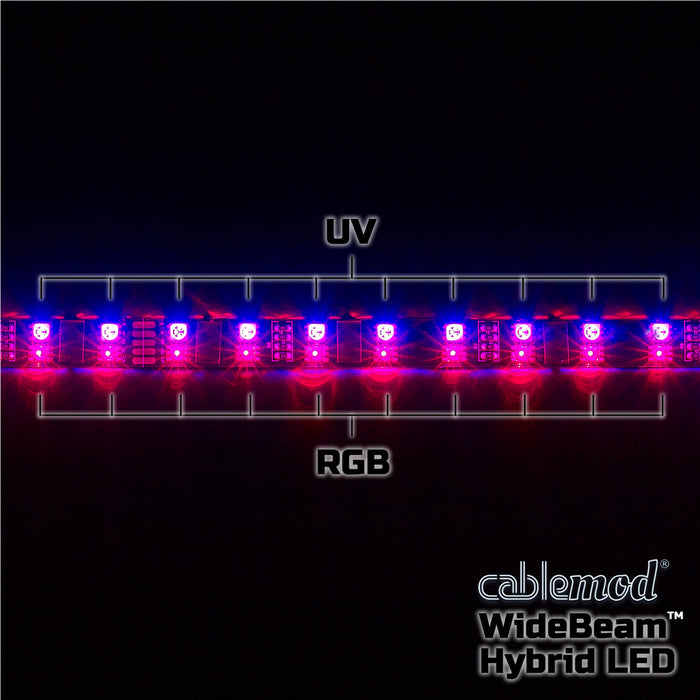 CableMod WideBeam Hybrid LED Strip – RGB/UV - V&L Canada