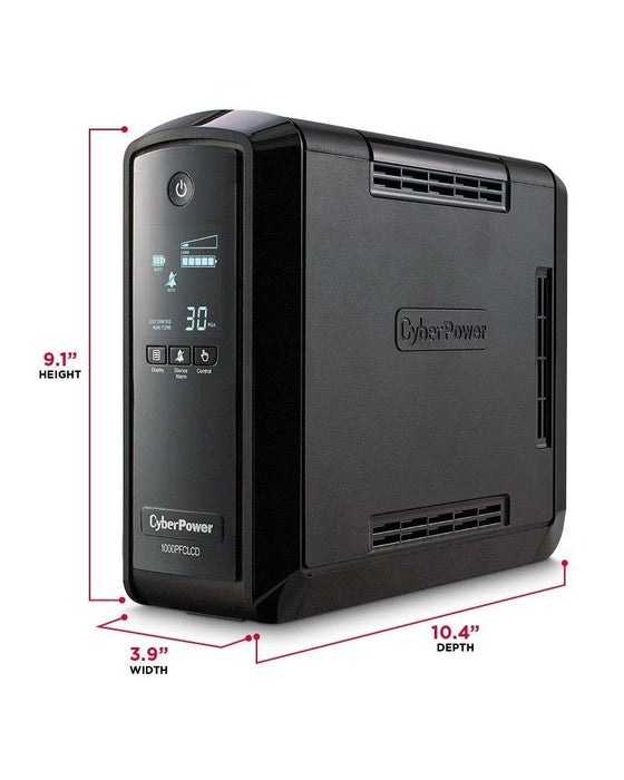 CyberPower CP1000PFCLCD Line-interactive 1000VA 10AC outlet(s) Tower Black uninterruptible power supply (UPS) - V&L Canada
