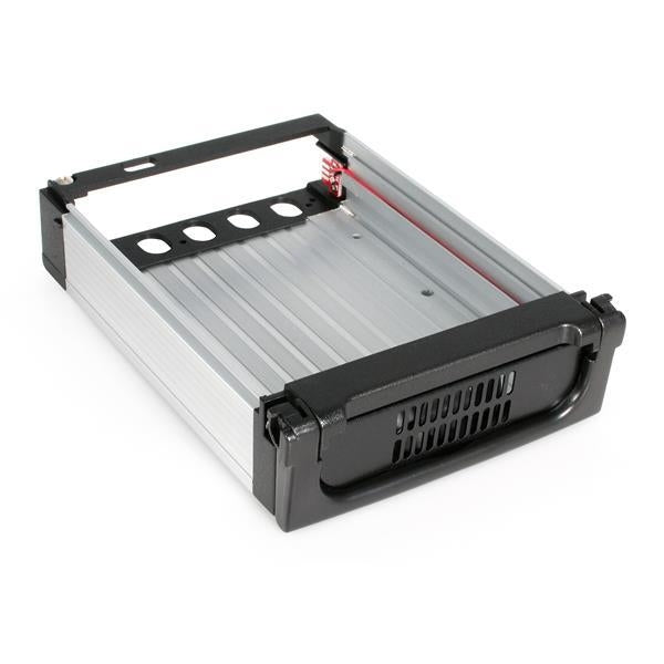 StarTech  Black Aluminum 5.25in Rugged SATA Hard Drive Mobile Rack Drawer (DRW150SATBK) - V&L Canada