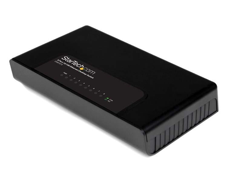 StarTech Network  Switch 8Port 10 100Mbps Fast Ethernet Desktop Wall Mount Retail (DS81072) - V&L Canada