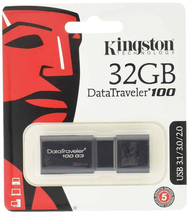 Kingston Technology DataTraveler G3 32GB USB flash drive USB Type-A 3.0 (3.1 Gen 1) Black (DT100G3/32GBCR)