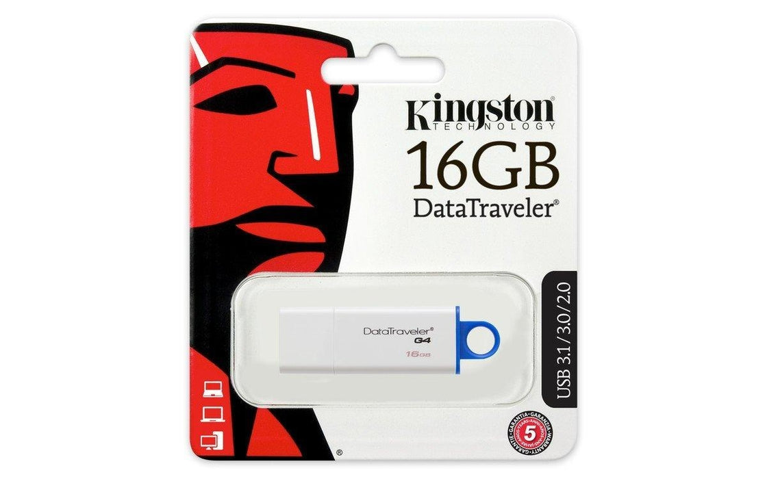 Kingston DataTraveler G4 - USB flash drive - 16 GB (DTIG4/16GBCR)