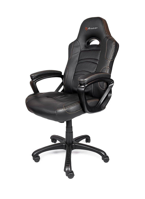 Arozzi Enzo Series Gaming Racing Style Swivel Chair, Black (ENZO-BK) - V&L Canada