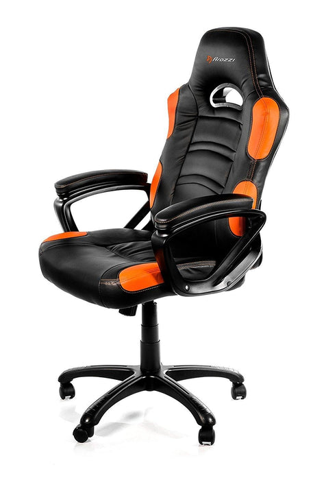 Arozzi Enzo Series Gaming Racing Style Swivel Chair, Black/Orange (ENZO-OR) - V&L Canada