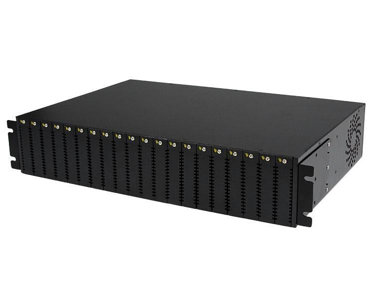 StarTech 20-Slot 2U Rack Mount Media Converter Chassis for ET Series 2 Fiber Media Converter (ETCHS2U) - V&L Canada