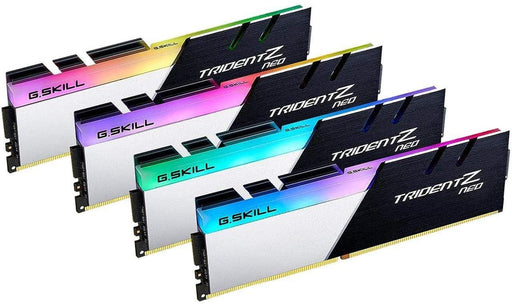 G.SKILL Trident Z Neo (For AMD Ryzen) Series 32GB (4 x 8GB) 288-Pin RGB DDR4 SDRAM DDR4 3200 (PC4 25600) Desktop Memory Model F4-3200C16Q-32GTZN
