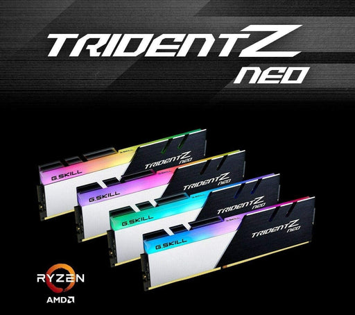G.SKILL Trident Z Neo (For AMD Ryzen) Series 16GB (2 x 8GB) 288-Pin RGB DDR4 SDRAM DDR4 3600 (PC4 28800) Desktop Memory Model F4-3600C16D-16GTZN