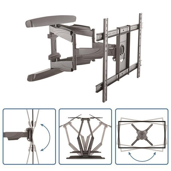 StarTech Accessory  Flat-Screen TV Wall Mount Full Motion Heavy Duty Steel Retail (FPWARTB2) - V&L Canada
