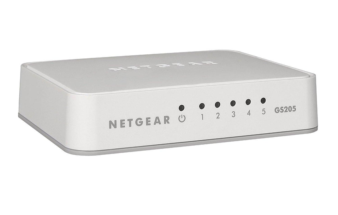 Netgear GS205-100PAS Unmanaged L2 Gigabit Ethernet (10/100/1000) White network switch - V&L Canada