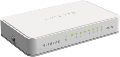 Netgear GS208-100PAS Unmanaged L2 Gigabit Ethernet (10/100/1000) White network switch - V&L Canada