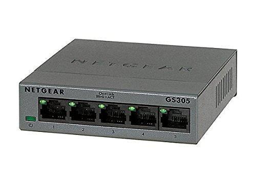 Netgear GS305-100PAS Unmanaged L2 Gigabit Ethernet (10/100/1000) Black network switch - V&L Canada