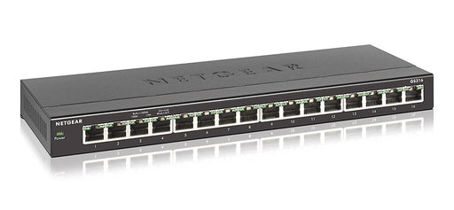 Netgear GS316-100NAS Unmanaged L2 Gigabit Ethernet (10/100/1000) Black network switch - V&L Canada
