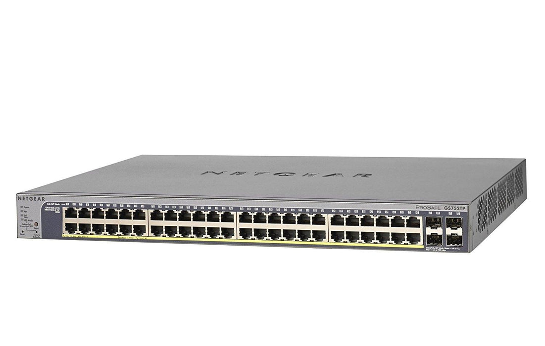 NETGEAR ProSAFE 48-port Gigabit Smart Switch with PoE and 4 SFP Ports (GS752TP) (GS752TP-100NAS) - V&L Canada