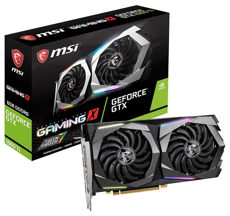 MSI Video Card GTX 1660 Ti GAMING X 6G 6GB DisplayPortx3/HDMI GAMING FAN Retail