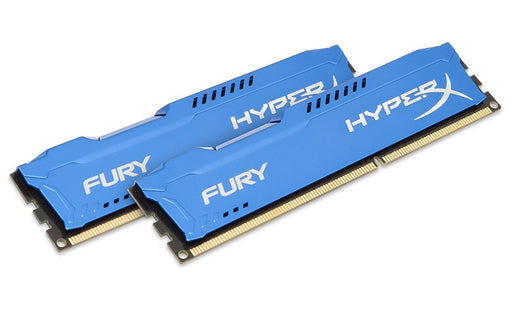Kingston HyperX FURY 8GB Kit (2x4GB) 1333MHz DDR3 CL9 DIMM - Blue (HX313C9FK2/8)