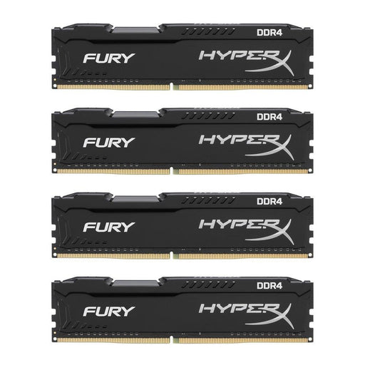 KINGSTON TECHNOLOGY 16GB (4x4GB) HyperX Fury Black DDR4, 2133MHZ, CL14, 1.2V, 288-pin DIMM, kit of 4 (HX421C14FBK4/16)