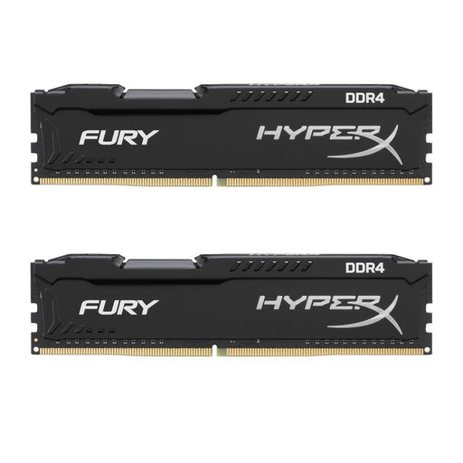 Kingston 8GB (2x4GB) HyperX Fury Black DDR4  2400MHZ, CL15, 1.2V, 288-pin DIMM, kit of 2 (HX424C15FBK2/8) - V&L Canada