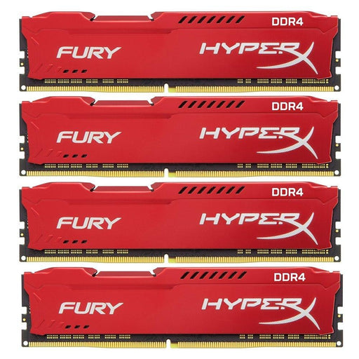 HyperX Fury Red 64GB 2400MHz DDR4 CL15 DIMM Kit of 4 (HX424C15FRK4/64) - V&L Canada