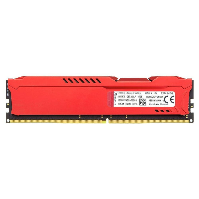 HyperX Fury Red 32GB 2666MHz DDR4 CL16 DIMM Kit of 4 1Rx8 (HX426C16FR2K4/32) - V&L Canada
