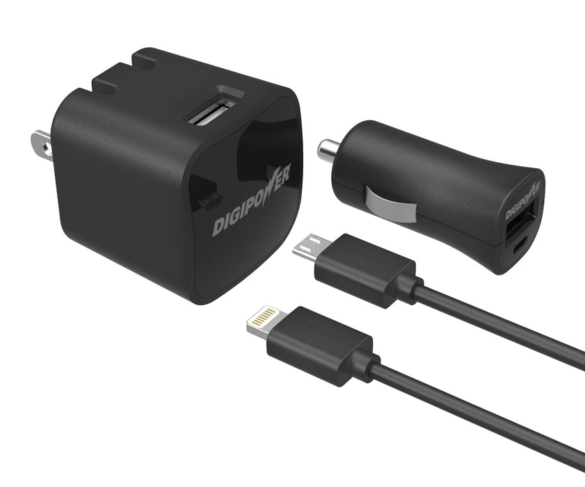 DIGIPOWER USB WALL & CAR CHARGER KIT IP-PK5ML (IP-PK5ML)