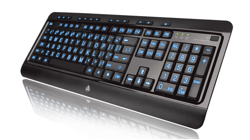 AZIO Large Print Tri-Color Backlit Wired Keyboard (KB505U) - V&L Canada