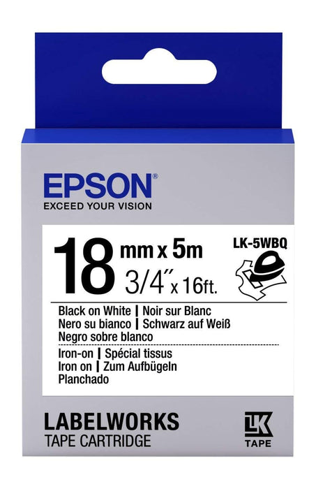 Epson LabelWorks Iron on LK Blue, Grey, White self-adhesive label (LK-5WBQ)