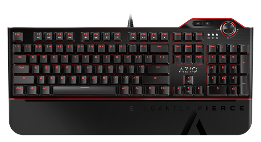 AZIO MGK L80 Mechanical Gaming Keyboard (Brown K-SWITCH/ Red Backlight) MGK-L80-02 - V&L Canada