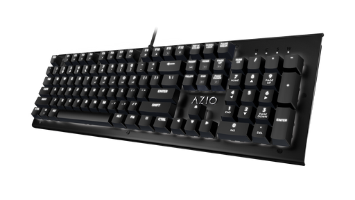 AZIO MK Hue Black USB Backlit Mechanical Keyboard (Outemu Brown) (MK-HUE-BK) - V&L Canada
