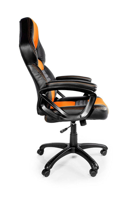 Arozzi Monza Series Gaming Racing Style Swivel Chair, Orange/Black (MONZA-OR) - V&L Canada